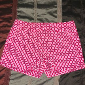 Ladies Banana Republic Hot Pink and White Shorts